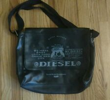 DIESEL Messenger Bag school work black aptop student shoulder strap