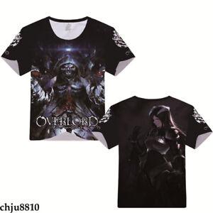Anime Overlord Ainz Ooal Gown 3D Print R- neck T-shirt Short sleeve summer  Tops