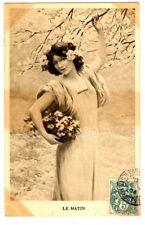 CPA fantaisie femmes Illustration série de 4 cartes Le Temps fantasy postcard