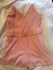Supre Luxe Pleat womens playsuit Pink Pearl Sz 14 Bnwt Free Post (d94)