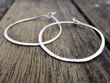 """Silver Hoop Earrings, .75""""/1"""" /1.5""""/2""""/2.5""""/3"""" Rustic,Tribal, Ethnic Hand Made"""