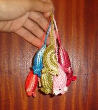 Handmade Cat kitten pet Toy, mouse crochet with mint catnip, pack of 10pc