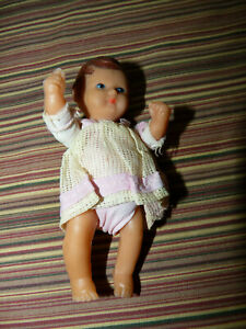"""CUTE VINTAGE ANTIQUE ARI GERMANY 4"""" RUBBER DOLL MARKED"""