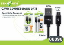Cavo Dati Usb TeKone 9A Connettore Microusb Micro Usb 1MT Smartphone hsb