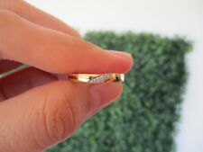 .04 Carat Diamond Twotone Gold Half Eternity Ring 18k HE113 sep (PRE-ORDER)