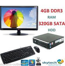 """Set COMPLETO A Buon Mercato PC HP Elite 8300 USDT Quad Core i5 2.90GHz 320GB 4GB 20"""" Monitor"""