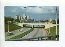 """FORT WORTH DALLAS, TEXAS """"DOWNTOWN COWTOWN"""" TYPICAL FREEWAY  VINTAGE  POST CARD"""