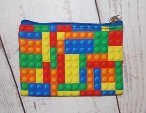 Fair Trade Cotton Lego Inspired Purse Wallet Hand Made Boho Summer Festival