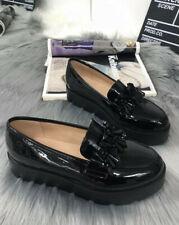 scarpe da donna slip on mocassino zeppa 5 nero bordo comode comfort in vernice