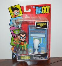 2014 DC Comics TEEN TITANS GO! ROBIN w/ Desk Action FIgure Jazwares MOC Sealed