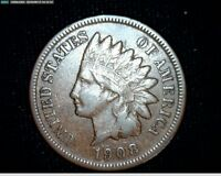 1908 S Indian Head Small Cent Penny #6788