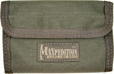 """Maxpedition Spartan Wallet Foliage Green 5 1/2"""" x 3 1/2"""" x 1/2"""" closed Contains"""
