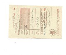 Preußen/Hückeswagen Ant L1 1859 on Kabinett-Postschein