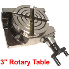 MINI 3 INCH ROTARY TABLE HORIZONTAL / VERTICAL MULTI DIY MILLING MACHINE