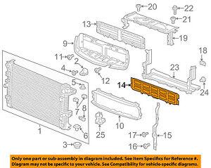 Buick GM OEM 17-18 Envision 2.5L-L4 Radiator-Air Seal 22928071