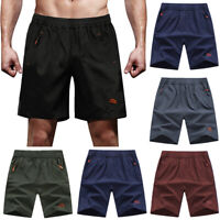 Men's Outdoor Quick Dry Sports Shorts Lightweight Zipper Pockets Short Pants US