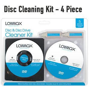 Laser Lens Disc Cleaning Cleaner Kit For CD DVD Player Playstation XBOX BLURAY