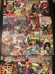 Comic Book Assorted Lot O 16 Vintage Marvel Comic Books X-Men Dr Strange Crystar