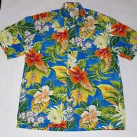 Pacific Legend Apparel Made In Hawaii Hawaiian Shirt Aloha Floral - Size Large