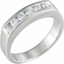 5 Round Diamond Anniversary Band Channel Ring 0.07 carat each F-G SI1 0.35 tcw