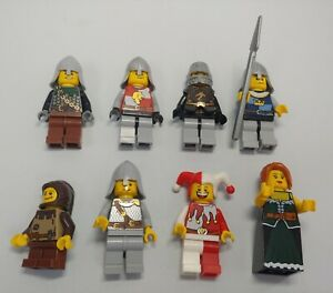 Lego Kingdom Castle minifigure lot x8 knights soldiers townspeople