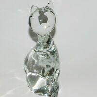"""Vintage Zanetti Murano Glass Cat Sculpture Hand signed on the bottom 8.5"""""""