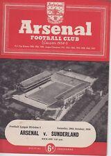 ARSENAL V SUNDERLAND ~ 30 OCTOBER 1954 ~  FOOTBALL PROGRAMME (2)