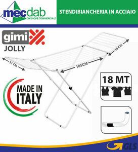 Stendibiancheria Estendibile in Acciaio 18 MT Gimi Jolly Stendipanni Bianco