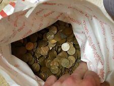 Bag of 2,500 Circulated 95% Copper Pennies. 17LBS Bulk Bullion. All 1959-1982