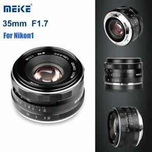 Meike 35mm F1.7 Manual Focus Prime Lens for Nikon1 V1/V2/V3/S1/S2/J1/J2/J3/J4/J5