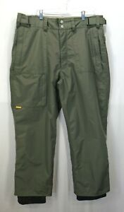 Burton Mens Tactic Ski Snowboarding Pants Adjustable Waist Gaiters Army Green XL