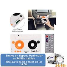 Adaptador cassette con mando distancia coche mp3 sd reproductor (Envio express)