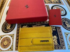 Genuine Ferrari Yellow Card Holder Extremely RARE Made in Italy New in BOX