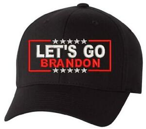 Let's Go Brandon Embroidered Flex Fit Hat - Flex Fit 6277 Ball Cap MAGA FJB FU46