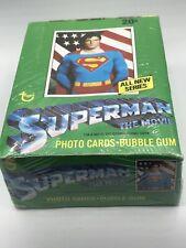 VINTAGE 1978 SUPERMAN TOPPS FULL COUNTER BOX 36 WAX PACKS BUBBLE GUM SHRINK WRAP