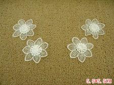 Wholesale lot 30pcs ivory flower lace applique patch Diy sewing dress 5.5cm