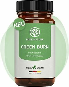 Green Burn Veganer Stoffwechsel Komplex mit Guarana Grün- & Matatee 100 Kapseln