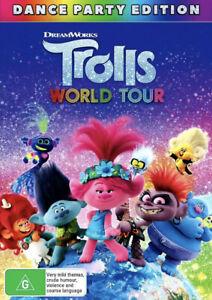 TROLLS WORLD TOUR DVD-NEW/SEALED-REGION 4-FAST FREE POST IN AUS 👍