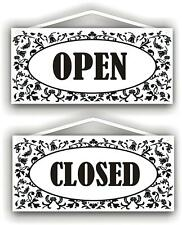 MySigncraft Open - Closed Double Sided Sign with Rope and Suction Cup - by