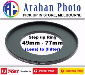 Step Up Ring 49-77 Filter Lens Adapter 77mm Filter to 49mm Lens