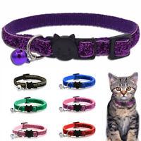 Sequin Buckle Puppy Pet Supplies Dog Collar Necklace Bell Pendant Cat Collars