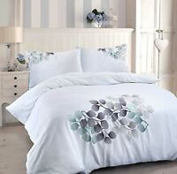 Roseburg T180 Percale Luxury Leaf Trail Embroidery Duvet Quilt Cover Bedding Set