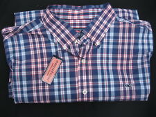 NWT Vineyard Vines LS Navy Blue Plaid Whale Slim Fit Button Down Shirt Mens XL