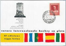 56533 - SPORTS: HOCKEY  - ITALY -  POSTAL HISTORY:  POSTCARD  1965