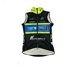 Women's 2018 Voler Team Tibco Pro Cycling Windtex Thermal Vest, Black, XS EUC