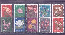 Macau Scott #s 372-381 Flowers Set of 10 Stamps VF MLH/VLH