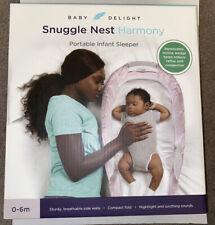 NIB Baby Delight Snuggle Nest Harmony Portable Infant Sleeper 0-6M Pink White