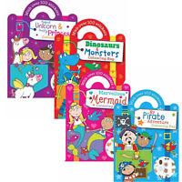 100 Sticker Colouring Book Kids Children Fairy Bag Sketch Activity Fun Art Craft