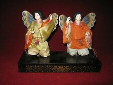 Antique Japanese Spring Butterfly Festival Dolls circa 1920s