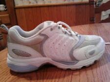 EASY SPIRIT WOMENS SIZE 6M WHITE SILVER BLUE LACE UP ATHLETIC SHOES